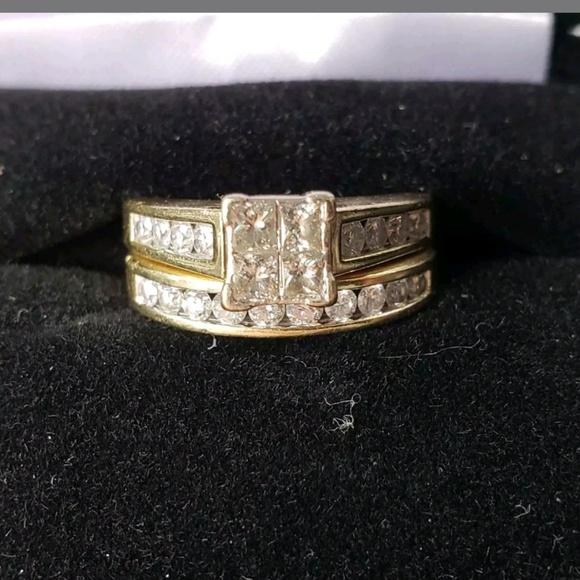 Kay Jewelers Jewelry Bridal Ring Set With Band 14ct Gold Poshmark